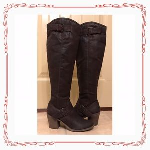 Candie's Over the Knee Boots 8M Cakory Brown NWOT